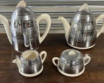 1950's Vintage Retro Burslem Heatmaster Insulated 4 Piece Tea Set