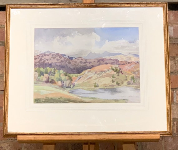Wonderful Original Watercolour Of Blea Tarn, The Lake District By Joan Atkinson