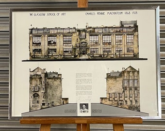 The Glasgow School Of Art, Charles Rennie Macintosh 1868-1928 Framed and Glazed Poster Print