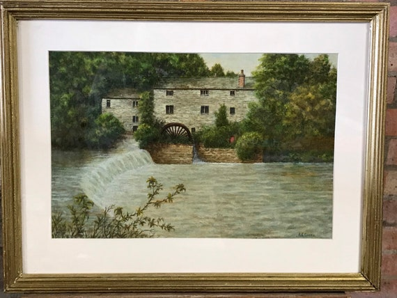 Wondeful 19th Century Watercolour Of A Watermill By The Artist A E Cooke