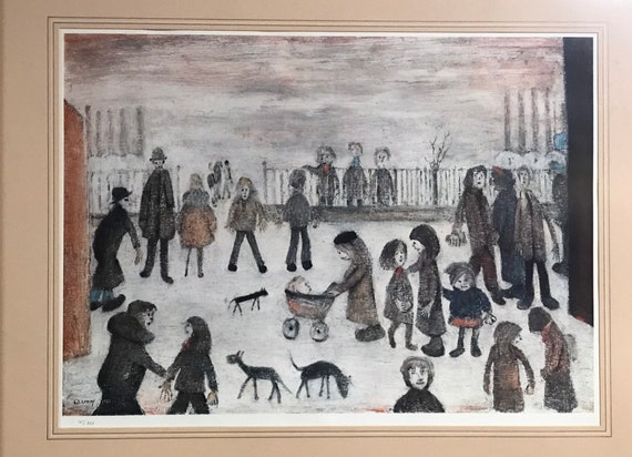 Limited Edition L S Lowry 'The Park' Numbered 147/850 Off-Set Lithograph