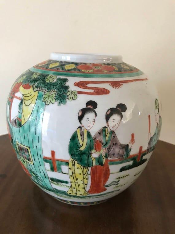 Wonderful Chinese 19th Century Hand Painted Vase