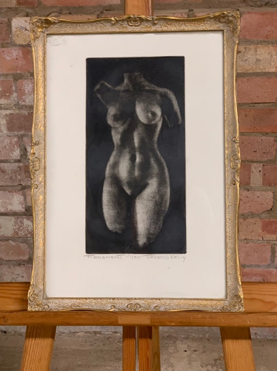 Beautiful Limited Edition Nude Lithograph By The American Artist Francis Kelly 1927-2012