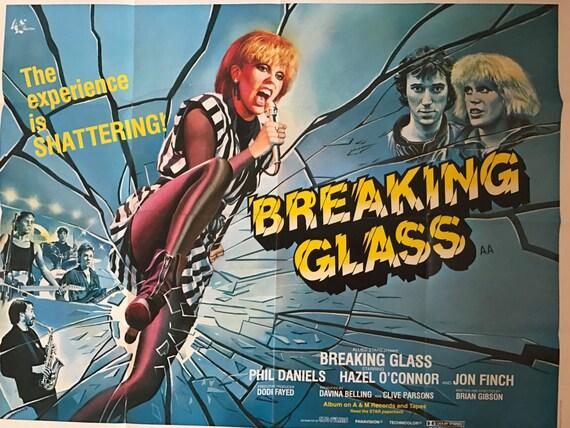 Original 1980 British Quad Poster Of The Movie Breaking Glass