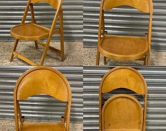 Mid Century Retro Danish OTK Designer Folding Beech Chair