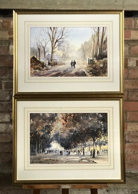 Beautiful Pair Of Original Watercolours By John Snelling FRSA