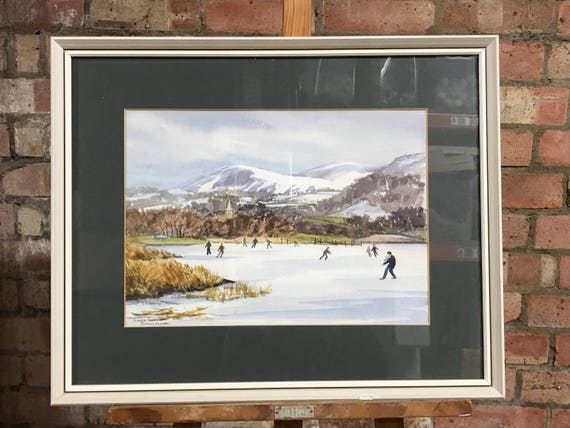 Original Painting Of Derwentwater in the Lake District by Monica Barry (1917 - 2014)