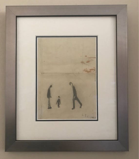 Sketch Attributed to L S Lowry on the reverse side of a Letter which mentions Manchester City Football Result
