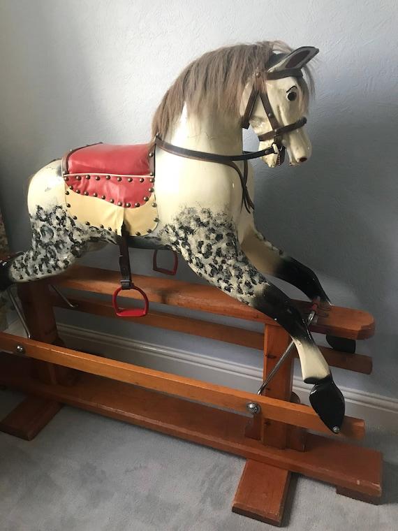Vintage Circa 1920's Dapple Rocking Horse