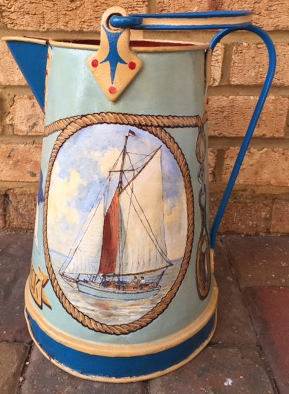 Fantastic Bargeware Hand Painted Jug 'Eider Duck'- Hand Painted by Peter Stuckey