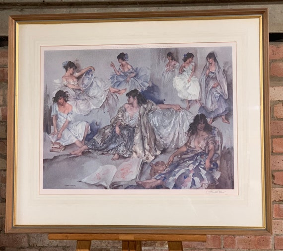 Large Rare Sir William Russell Flint Signed & EmbossedLimited Edition PrintTitled'Variations IV'