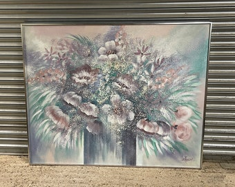 Fabulous Large Vanguard Studio Still Life Of Flowers Lee Reynolds Oil Painting