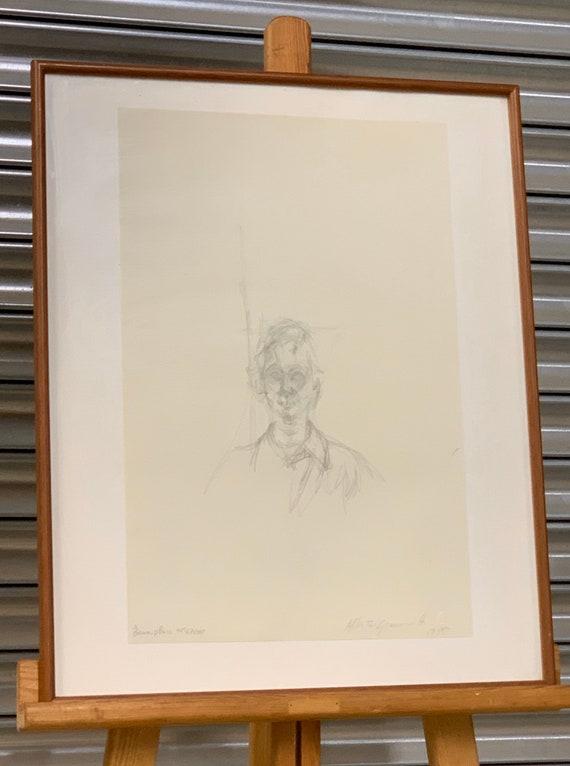 After Alberto Giacometti, Ritratto Di Giovinetta I, Limited Edition Lithograph from 'Quarantacinque disegni de Alberto Giacometti