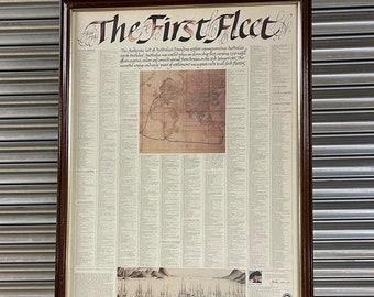 Large Framed And Glazed Poster First Fleet Australias Founding Settlers - List of the Settlers