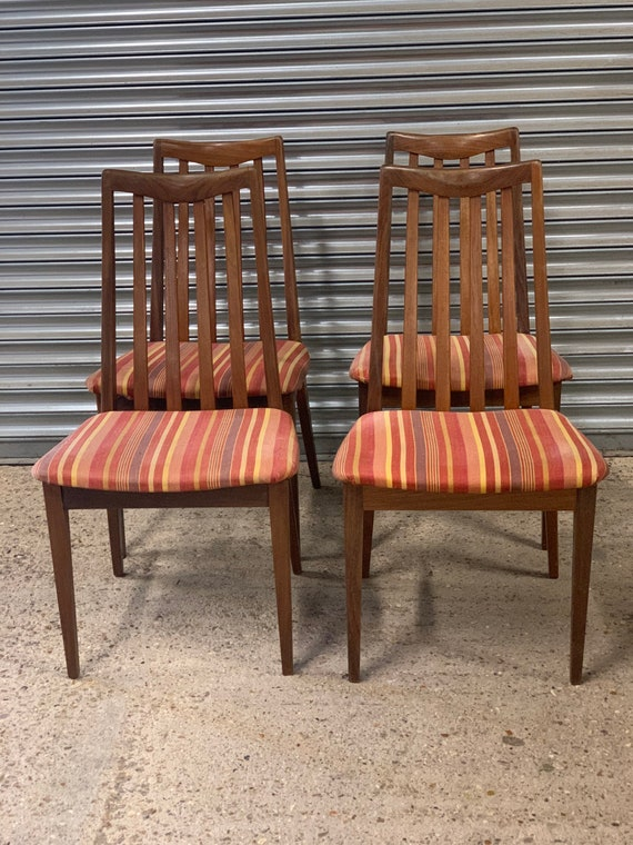 Set Of 4 Original G Plan Dining Chairs