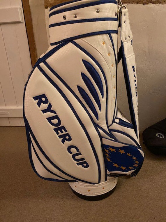 Rare Limited Edition Ryder Cup 2008 Tour Golf Bag Signed By Ian Poulter