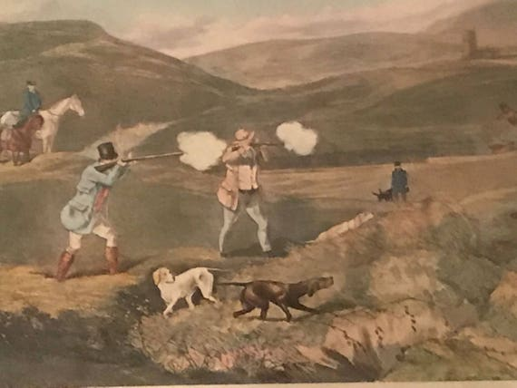 Vintage Framed Shooting Hunting Print Titled 'The Moor'