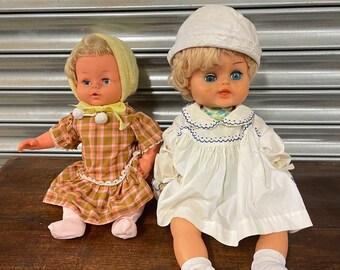 Two Vintage Circa 1950's Dolls.