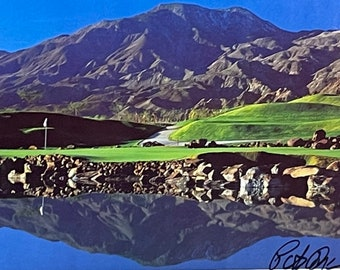 Two Rare Colour Posters Of The PGA West Golf Course Signed By The Designer Pete Dye.