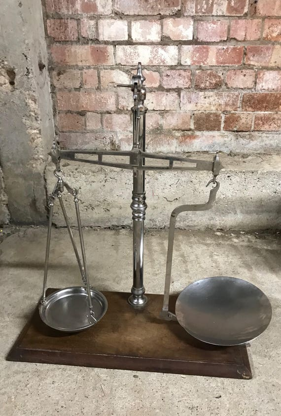 Handsome Vintage Set of Co-Operative Shop Weighing Scales