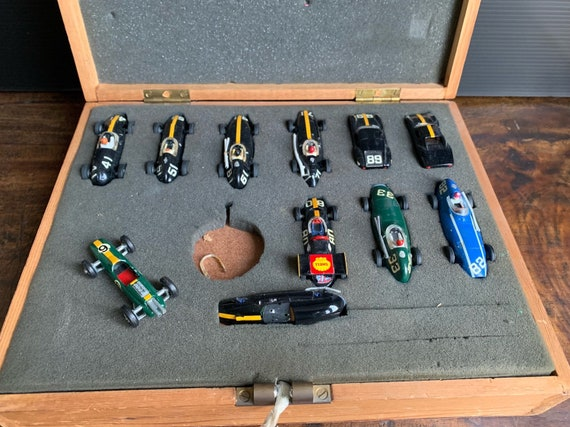 Rare Vintage Box Of 1960's Wrenn 152 Slot Scalextric Racing Cars