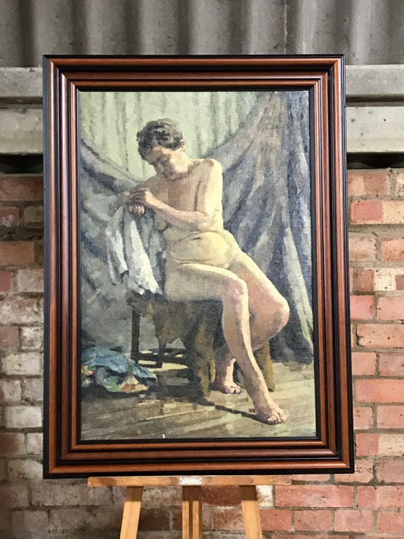 Original Oil Painting of a Female Nude By William Amos Cross