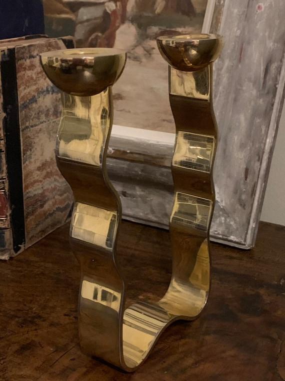 Fabulous Designer Danish Inspired Candle Holder Designed By Arie Ofir Of Israel