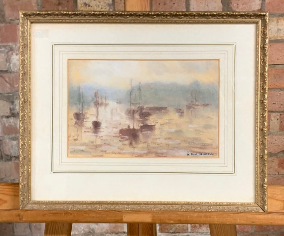 Wonderful Original Seascape Artwork Of Boats At Sea By Don Kendall