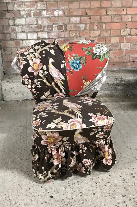 Fabulous Original Retro Bartholomew Cocktail Chair For Re-Upholstery