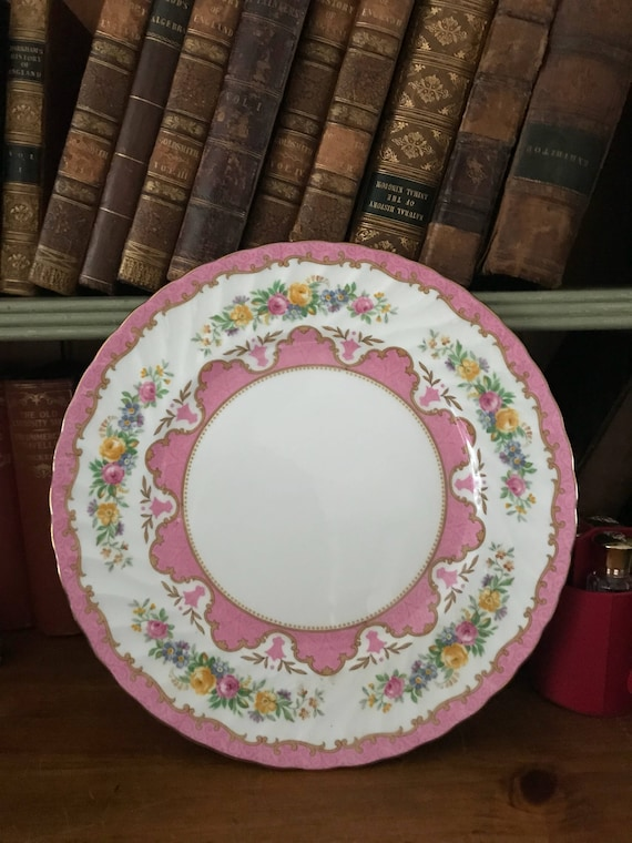 Lovely Crown Staffordshire c1930's 'Tunis' Fluted Dinner Plate