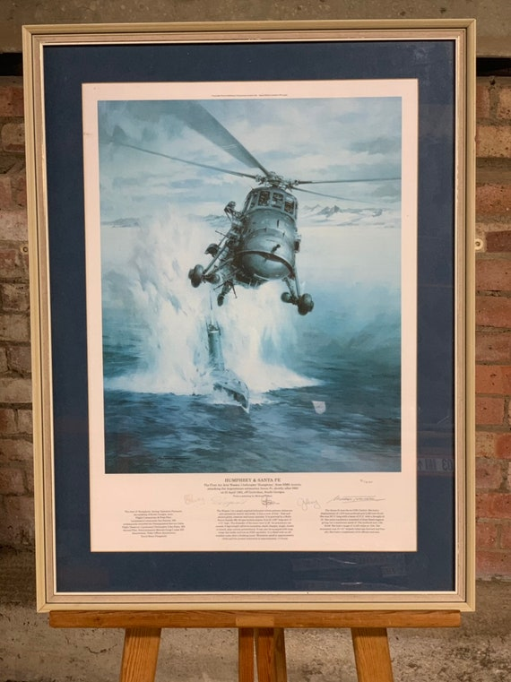 Large Framed And Glazed Limited Edition Signed Print Of The Humphrey And Sante Fe 51/850