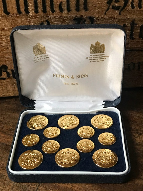 Beautiful Vintage Set of Firmin & Sons Buttons with the Worshipful Company Of Haberdashers Coat of Arms.
