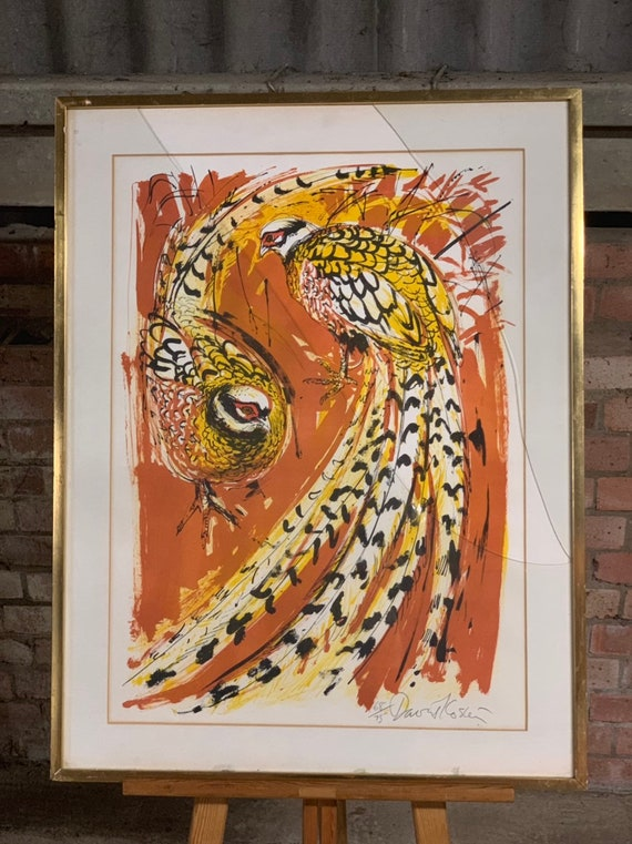 Fabulous Large Limited Edition Print Of Reeves Pheasants By David Koster - Limited Edition 68/75