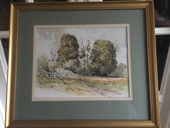 Wonderful H Rodmell Framed Landscape Watercolour Signed and Dated 1979
