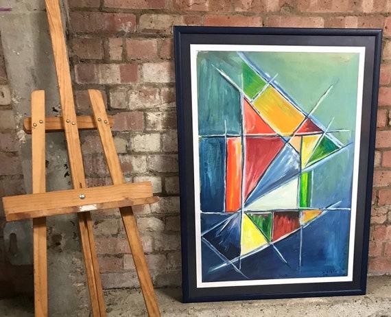 Large Original Abstract Artwork 'Dusk' By Jo Birch