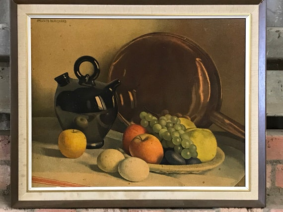 Fabulous Still Life Oil Painting By Jacques Blanchard (French Painter 1912-1992)