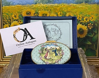 Beautiful Rare Limited Edition Halcyon Days Centenary Royal Shakespeare Theatre Musical Trinket Box - Limited Edition 36 of 250