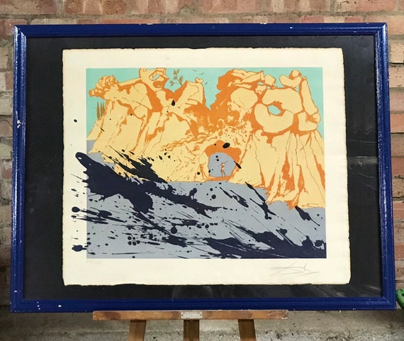 Fabulous Signed Limited Edition Abstract Print By Salvador Dali titled Costa Brava