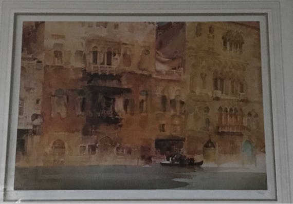 Large Limited Edition Sir William Russell Flint Print Palazzo On The Grand Canal