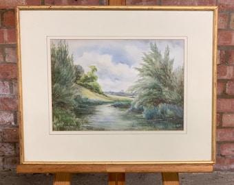 Original Landscape Watercolour By Nora Robinson