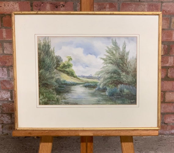 Original Landscape Watercolour By Nora Robinson