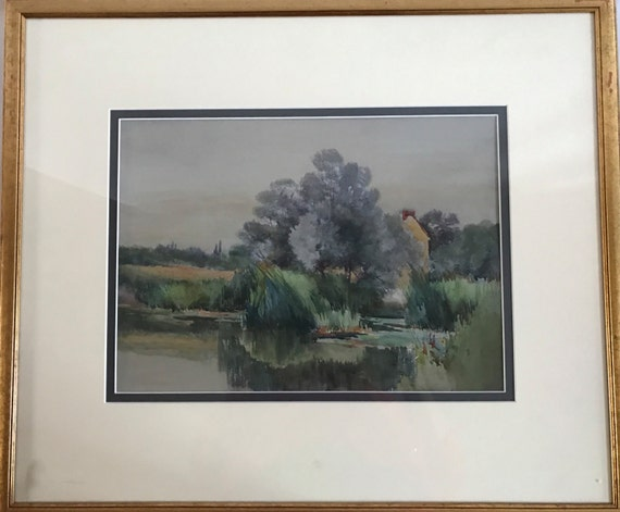 Lovely Watercolour Of The River Ouse, Bedford, Attributed To Henry Stannard