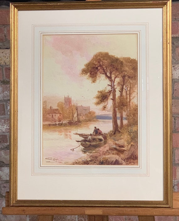 Fabulous Original Watercolour By The Artist Walter Stuart Lloyd, 1875 - 1929