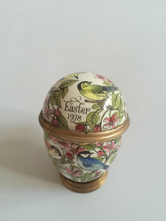 Rare Bilston & Battersea Halcyon Days 1978 Easter Egg