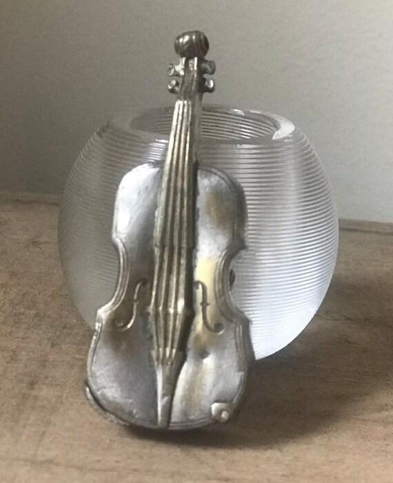 A late 19th century Victorian Vesta Case in the form of a Cello or Violin