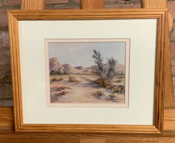 Beautiful Palm Springs Giclee Study by the artist Robert J Hockenberry