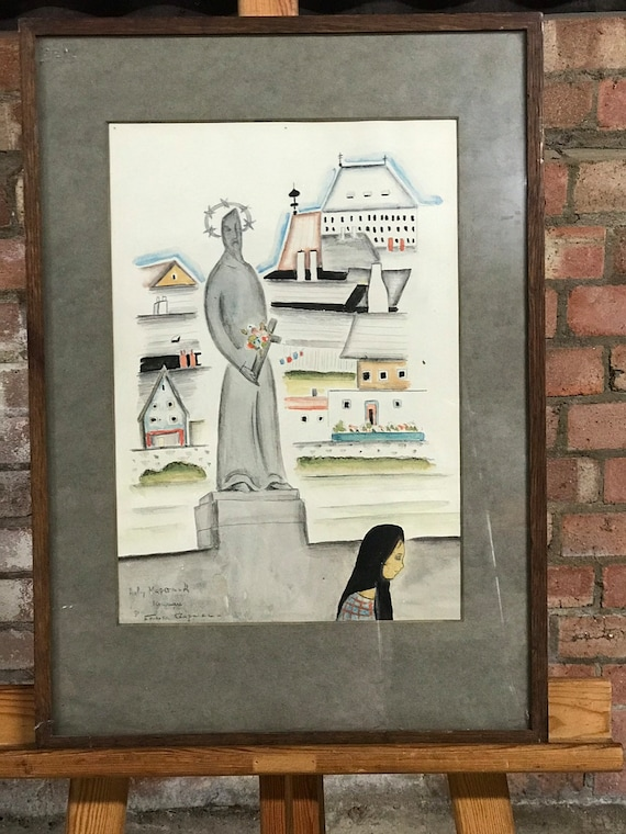 Unusual Original Abstract Style Watercolour By Emerson Chapman 1931