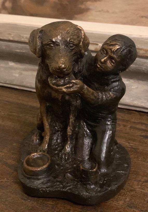Fabulous Albert Schultz Bronze Sculpture 'Child with Dog'