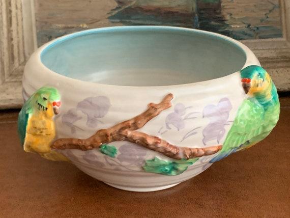 Beautiful Original 1930's Clarice Cliff 'Lovebirds' Fruit Bowl