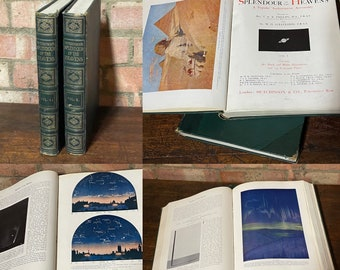 1923 Hutchinsons Splendour Of The Heavens In Two Volumes.